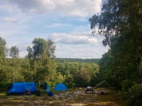 Campsite with views in Sussex