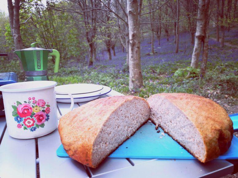 Dutch oven bread by Rachel Buckley at Beech Estate Campsite