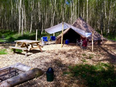 Group glamping Sussex