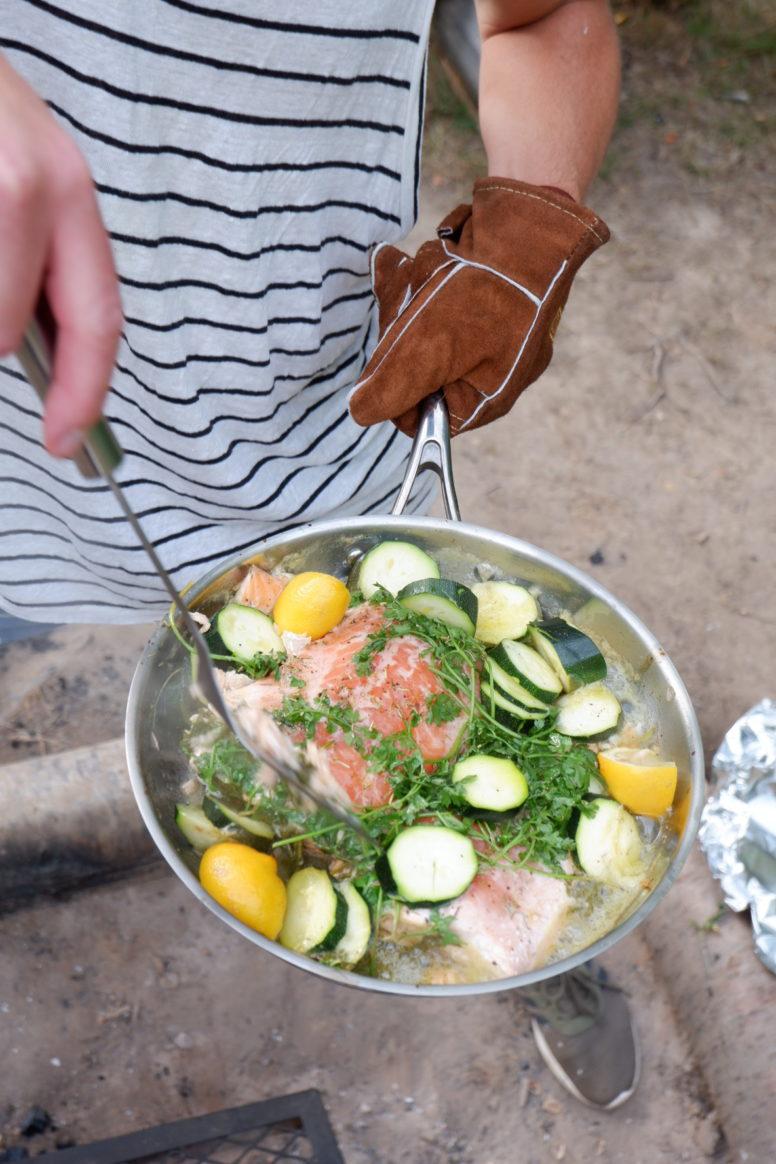 Salmon campfire recipes