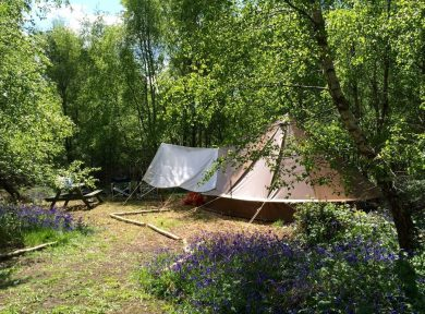 Off grid campsite in Sussex