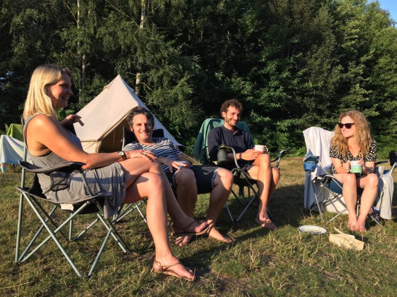 Group adult camping games