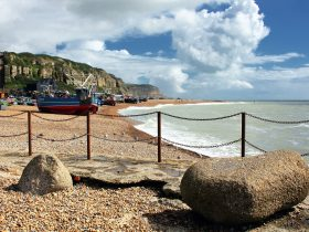 Hastings town near our Sussex Campsite