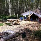Bell Tent with fire pit at Sussex Campsite