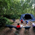 Family camping in Sussex