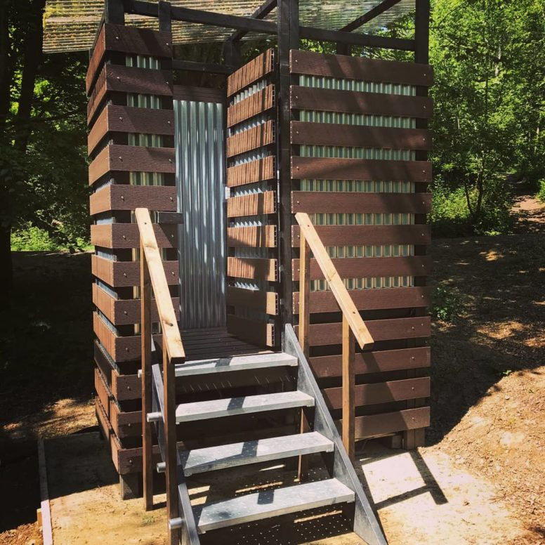Eco friendly compost toilets at Beech Estate Campsite