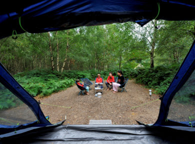 Family camping trip at Beech Estate Campsite