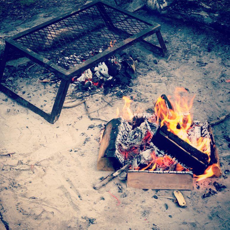 Campfire at Beech Estate Campsite