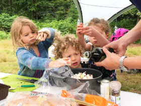 Group camping meals - getting the kids involved