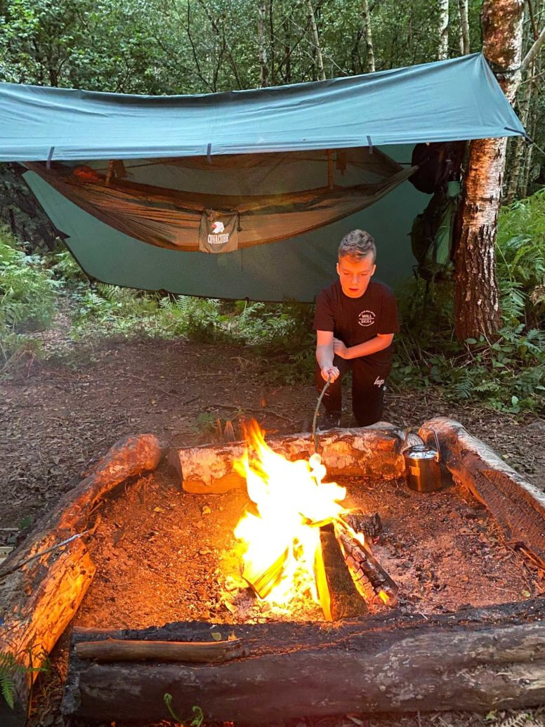Hammock camping with campfires in Sussex