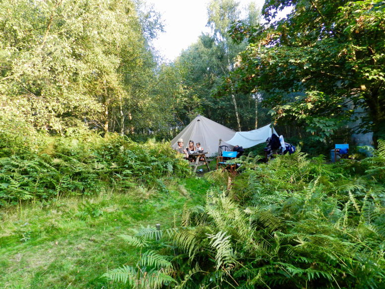 Secluded social distance camping pitch
