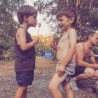 Children enjoying family campsite in Sussex