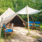 Bell tent glamping in Sussex at Beech Estate Campsite