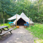 Secluded bell tent at Beech Estate glamping site in Sussex