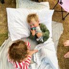 Children camping in Sussex at Beech Estate Campsite