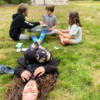 Children enjoying themselves at family sussex campsite