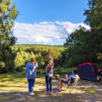 Camping in Sussex with beautiful views