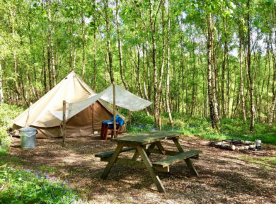 Glamping for couples in Sussex