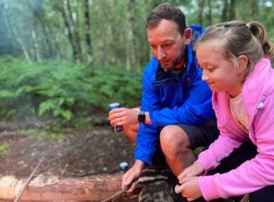 family campsite in Sussex