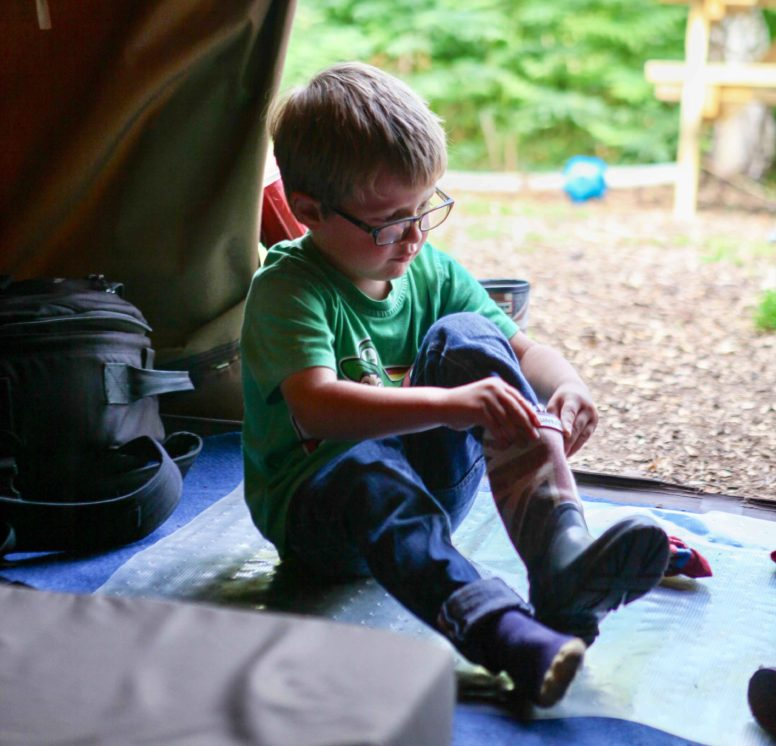 Don your wellies for wet weather camping