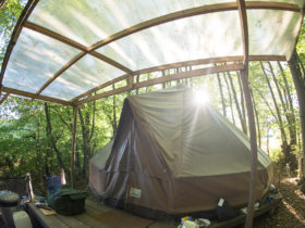 bell tent at best campsite in Sussex