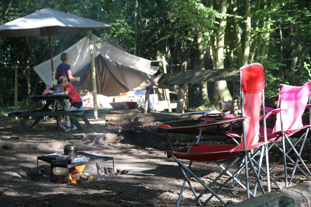 Cooking on the campfire at Wild Boar Wood