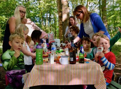 Sussex group glamping in West Sussex campsite