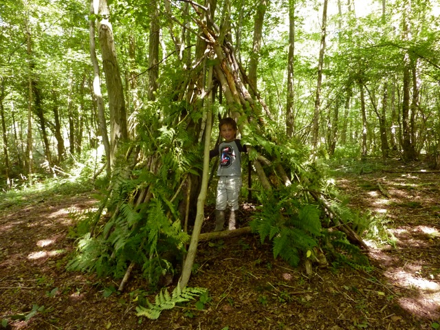 Den Building at the campsite in Sussex