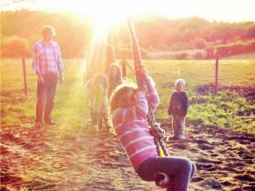 Family camping and glamping Sussex