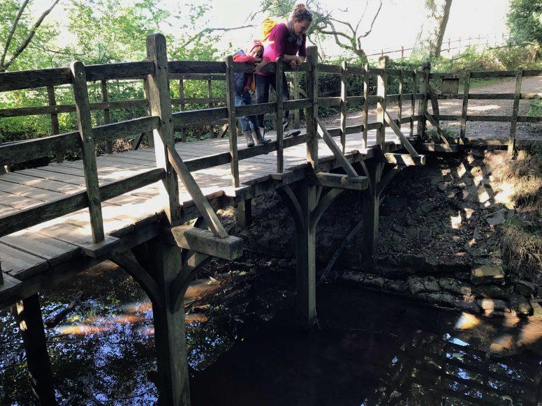 Pooh Sticks Bridge in The Ashdown Forest. Close to The Secret Campsites.