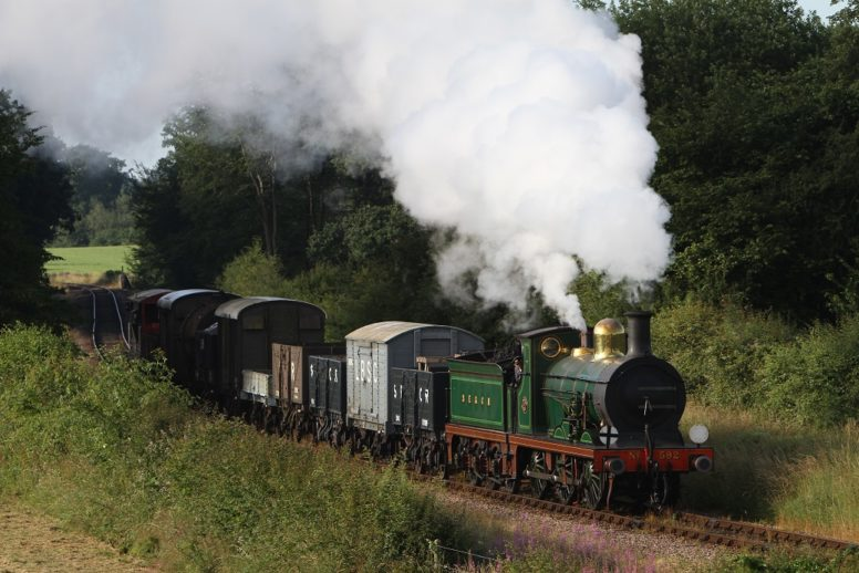 A steam train on The Bluebell Railway - a must on the itinerary for a Sussex family glamping weekend at Wild Boar Wood