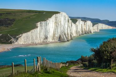 Seven Sisters, near the Sussex campsite