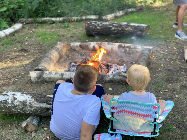 Children at the campfire