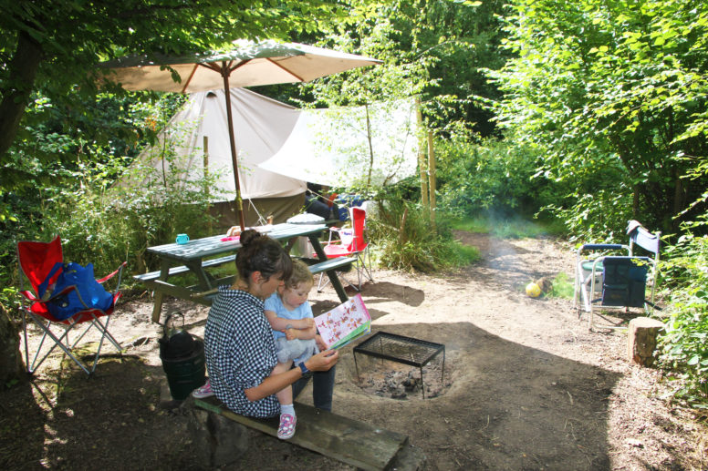 glamping for grandparents at Wild Boar Wood campsite in Sussex