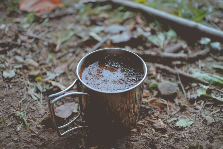 Campfire hot drinks - hot chocolate
