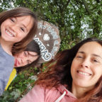 Family at the glamping site in Sussex