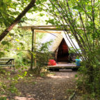 Bell tent at Wild Boar Wood glampsite in Sussex