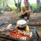 Campfire cooking at Sussex Campsite