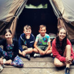 children at family friendly glamping site in Sussex